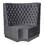Grey Velvet Booth Seating - Corner