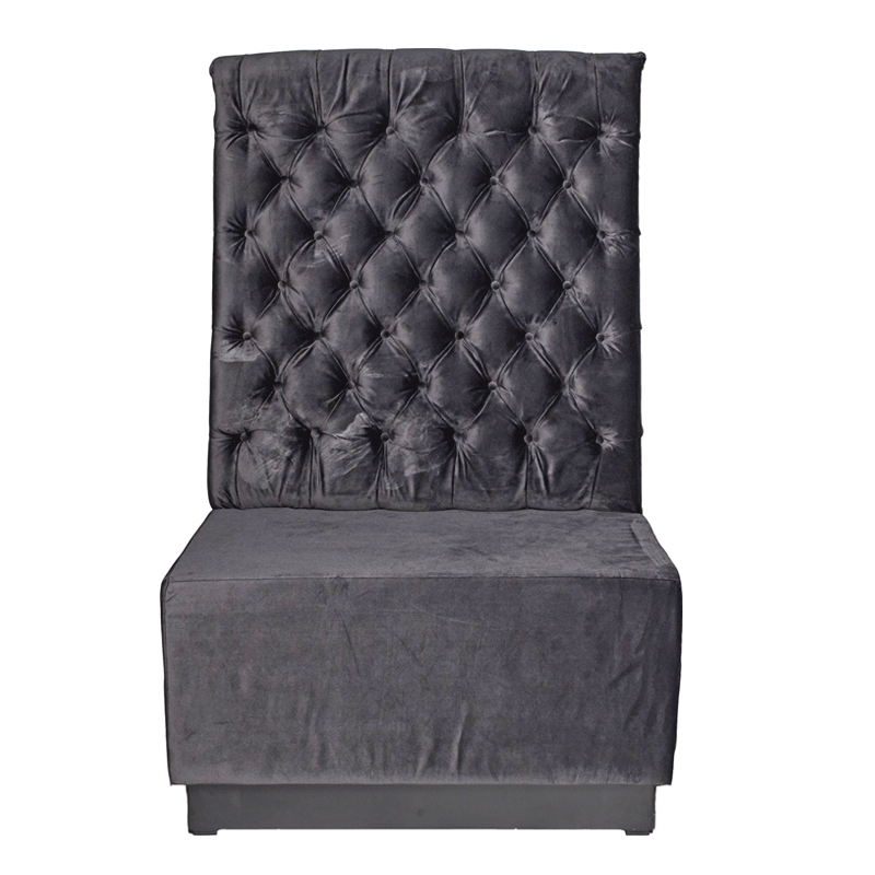 Grey Velvet Booth Seating - Back Section