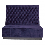 Purple Velvet Booth Seating Middle Section