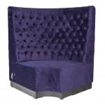 Purple Velvet Booth Seating - Corner