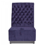 Purple Velvet Booth Seating - Back Section