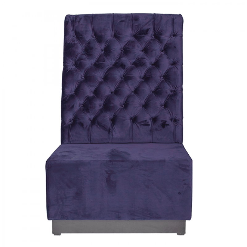 Purple Velvet Booth Seating Back Section