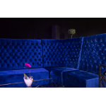 Royal Blue Velvet Booth Seating - Corner