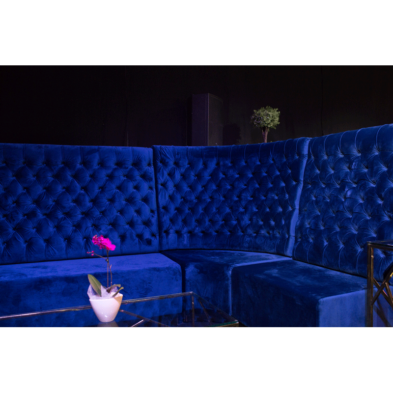 Modular velvet seating hire