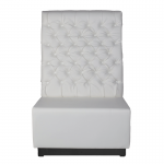 White Leather Booth Seating - Back Section