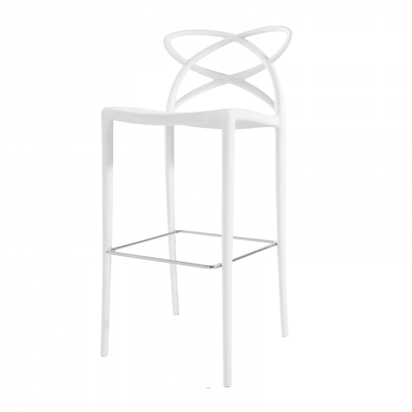 White Vienna Bar Stool