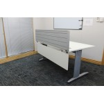 Silver Desk Mounted Screen