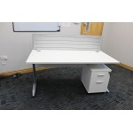 Desk Modesty Panel in White 1400