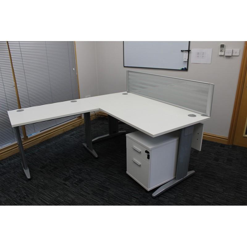 Silver Desk Mounted Screen