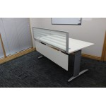 Desk Modesty Panel in White 1600
