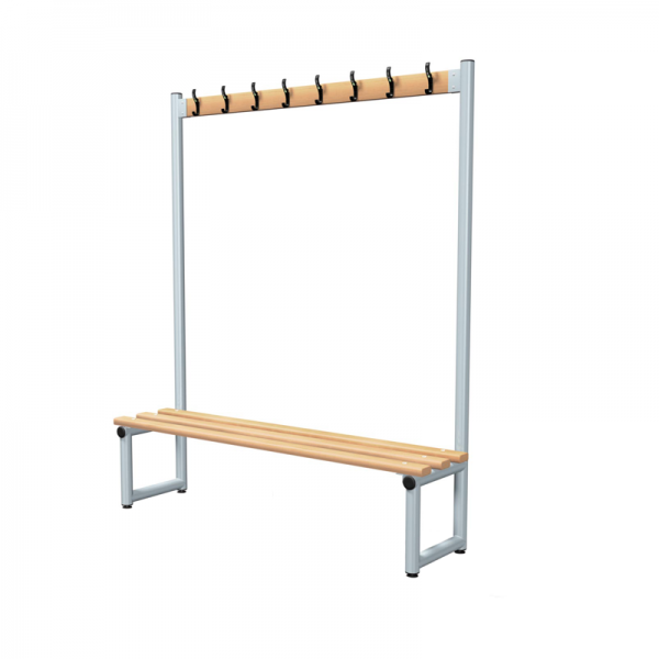Changing Room Bench with Garment Hooks