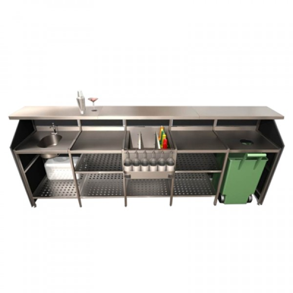 5 Bay Porta Bar Black