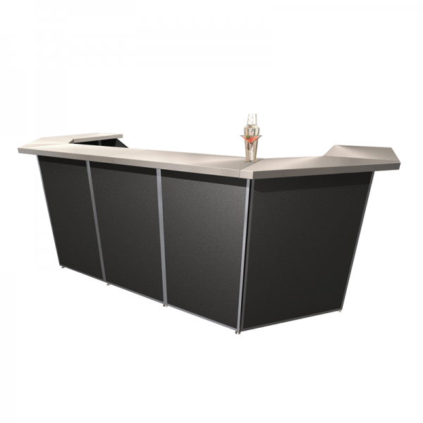5 Bay Porta Bar with Corners Black
