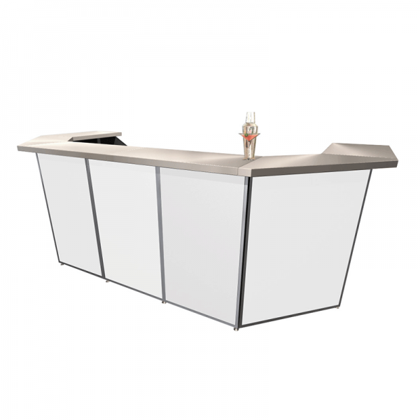 5 Bay Porta Bar with Corners White