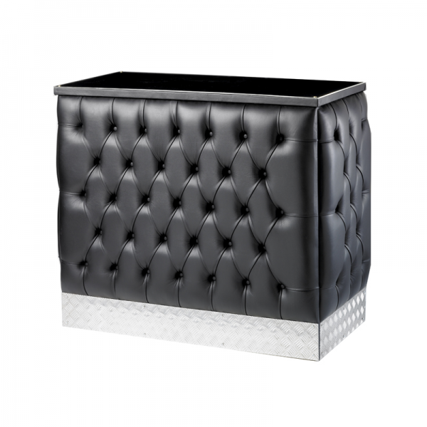 Black Leather Chesterfield Style Bar