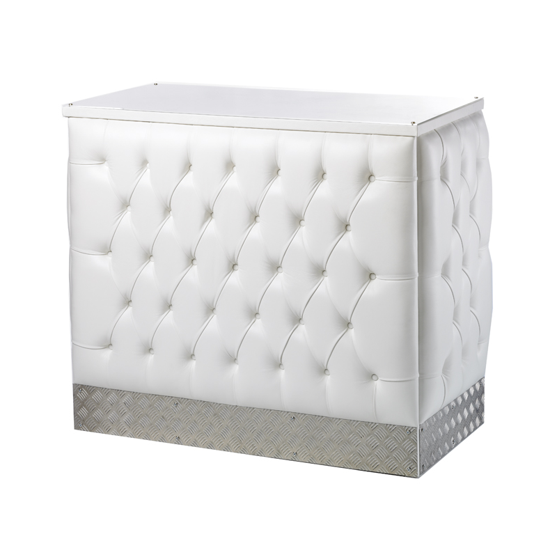 White Leather Chesterfield Style Bar