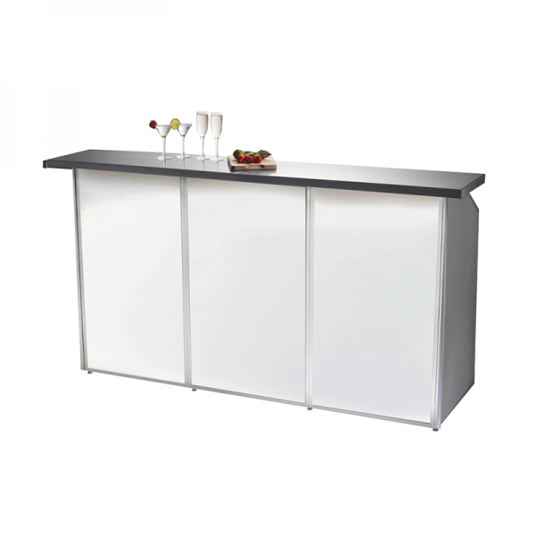 3 Bay Porta Bar White