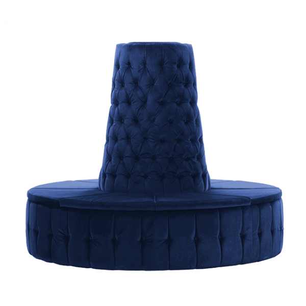 Royal Blue Velvet Chesterfield Style Doughnut Tower
