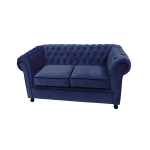 Royal Blue Velvet Chesterfield 2 Seater Sofa