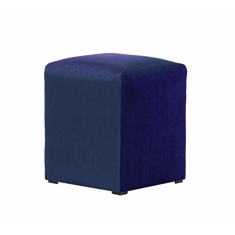 Royal Blue Velvet Pouffe