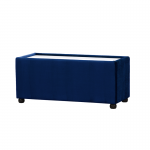 Royal Blue Velvet Rectangle Coffee Table