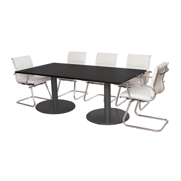 Black Rectangle Boardroom Table