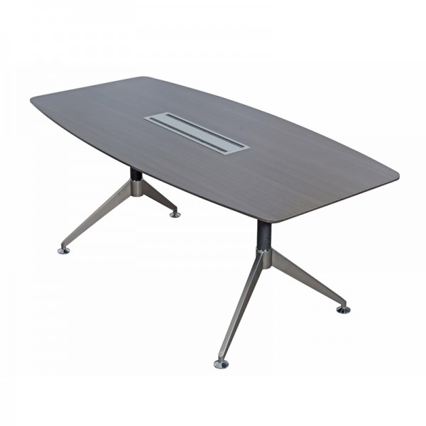 Dark Grey Wood Executive Boardroom Table  - Small