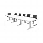 White Modular Boardroom Table