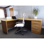 Executive Return Desk in American Walnut