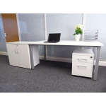 White 2 Drawer Mobile Pedstal