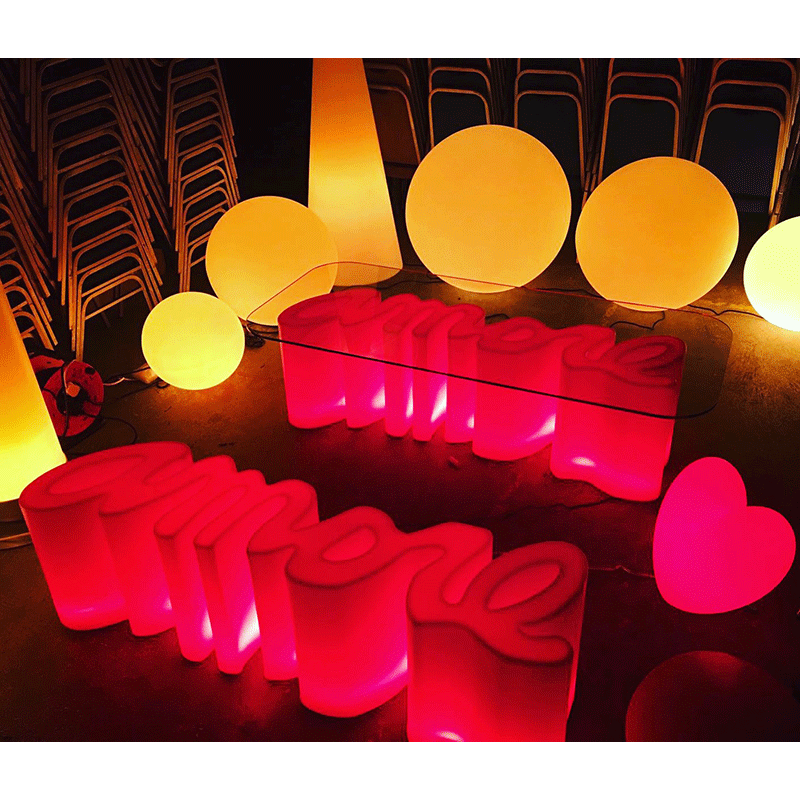 LED Love Table