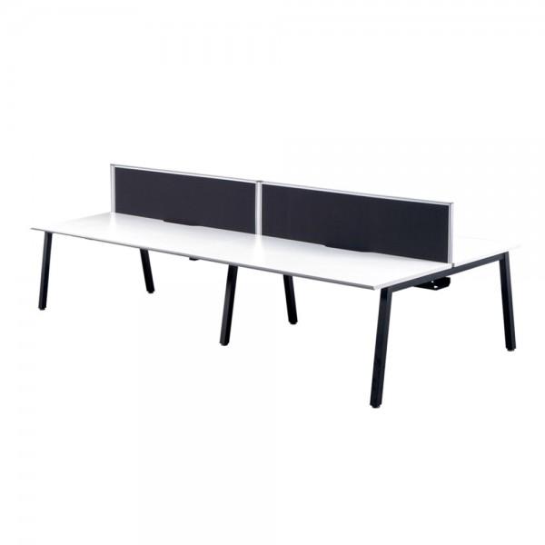 White Bench Desks - 4 Person