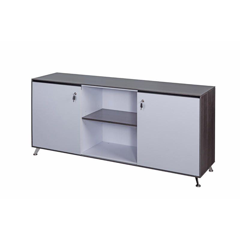 Dark Grey Wood Executive Credenza Unit