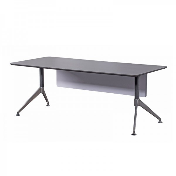 Dark Grey Wood Executive Desk