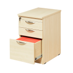 Maple 3 Drawer Mobile Pedstal