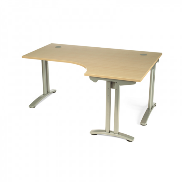 Maple Radial Office Desk
