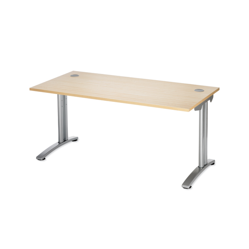 Maple Rectangular Office Desk with Cantilever Legs