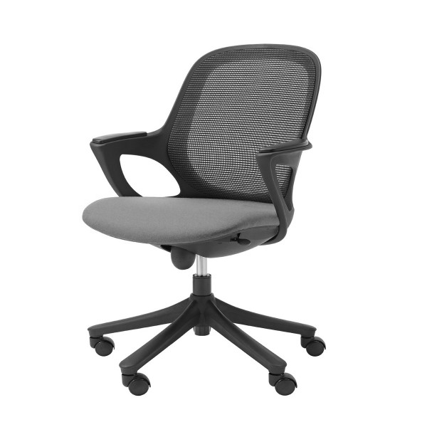 Mesh Task Chair with Fixed Arms