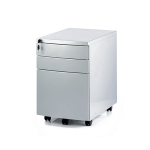 Silver 3 Drawer Mobile Pedestal
