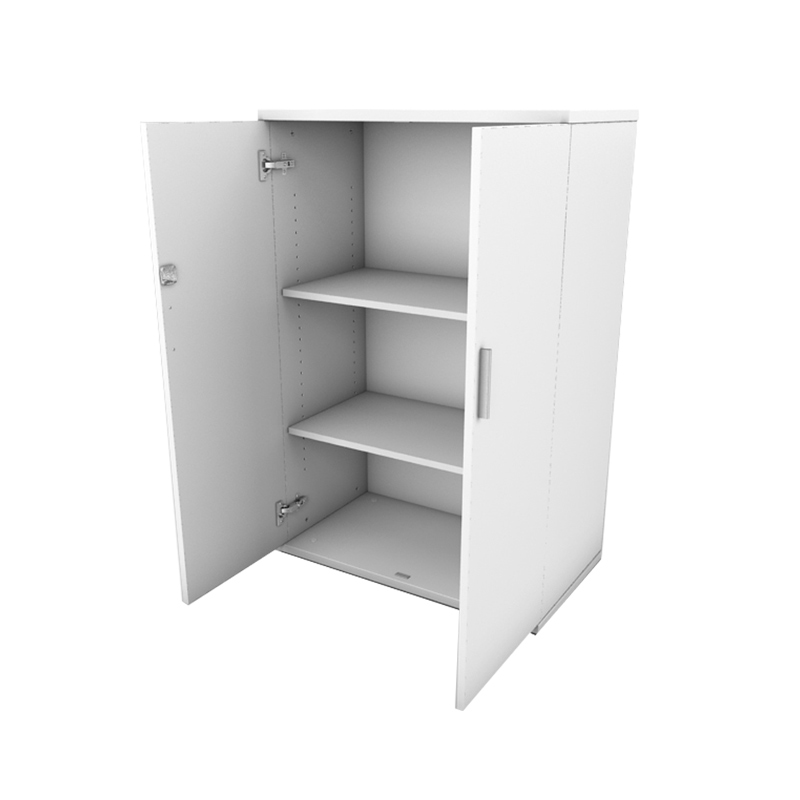 1200 White Double Door Storage Cupboard
