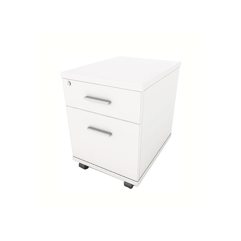 White 2 Drawer Mobile Pedstal
