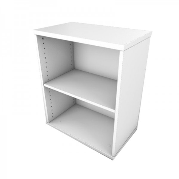 Desk High White Office Bookcase