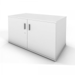 White Double Door Storage Cupboard