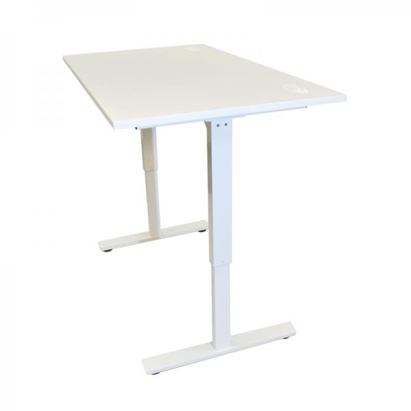 White Height Adjustable Desk