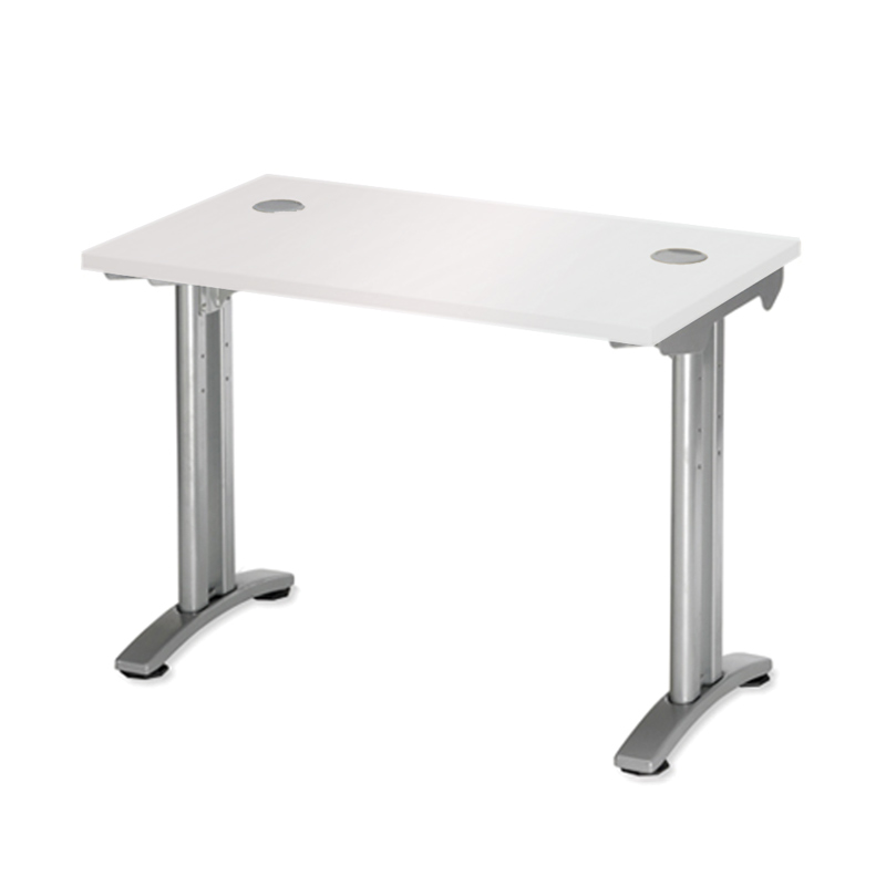 White Return Desk Unit
