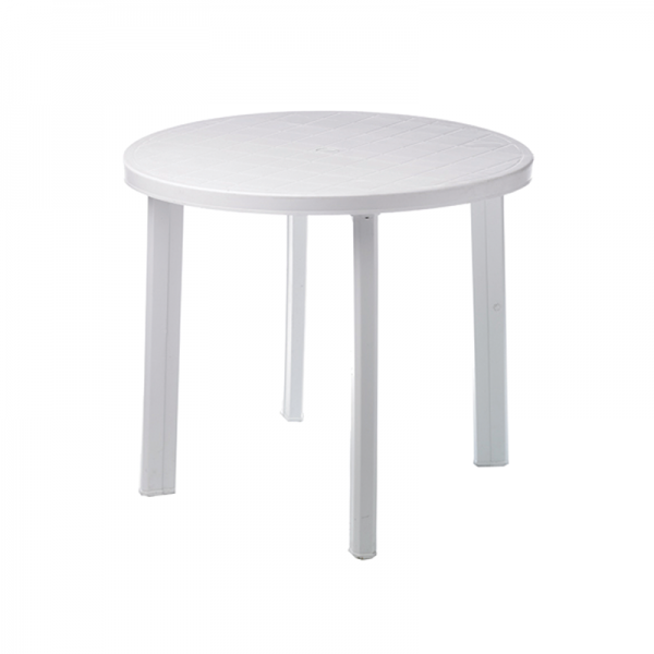 White Garden Table