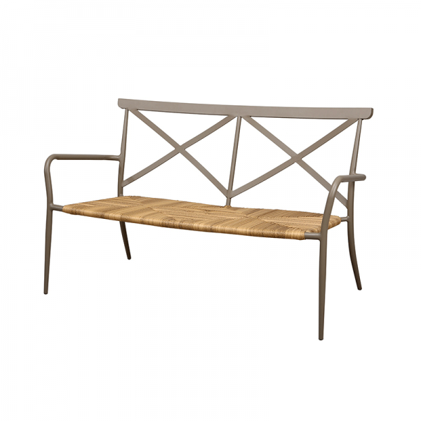 Taupe Aluminium Outdoor Bench