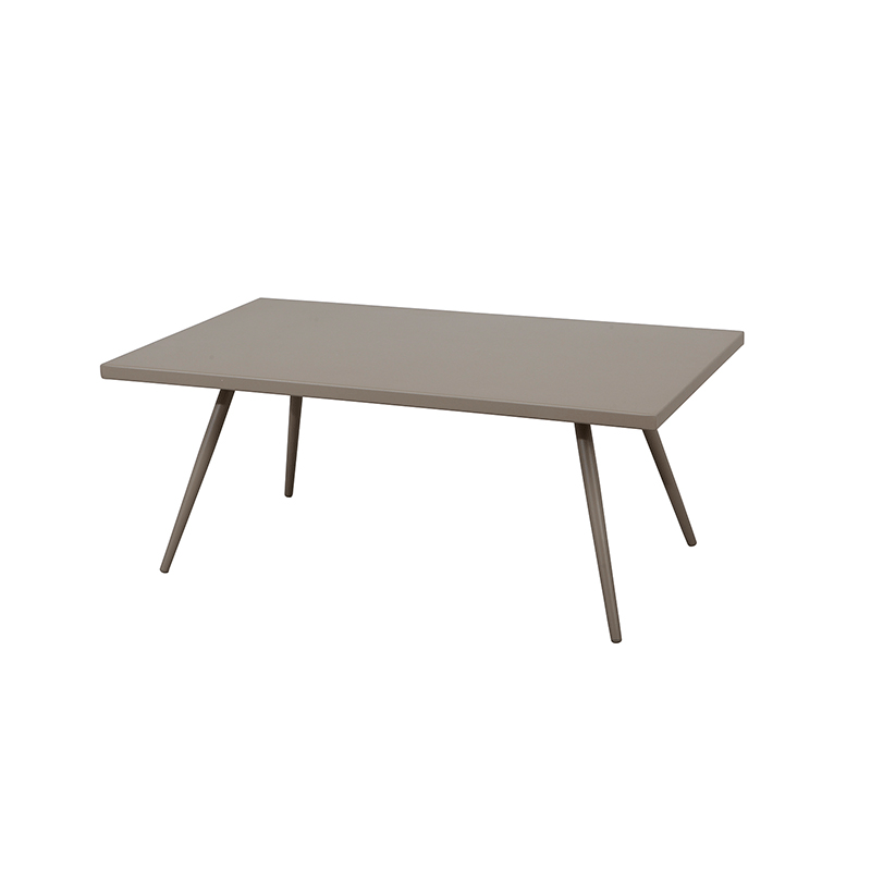 Taupe Wicker Coffee Table: Taupe Aluminium Outdoor Coffee Table