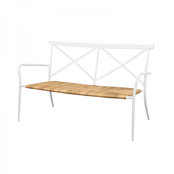 White Aluminium Outdoor Bench