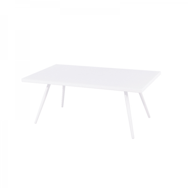 White Aluminium Outdoor Coffee Table